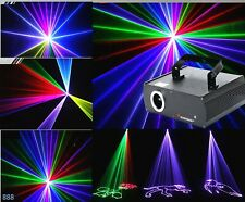 Laser Beam Line 3D Animation Effect RGB DMX Full Color DISO Stage Light 500mW