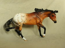 Breyer Working Cow Horse CM/Custom Dappled Bay Appaloosa Horse Statue OOAK