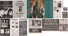 THE ICICLE WORKS : CUTTINGS COLLECTION - adverts interviews
