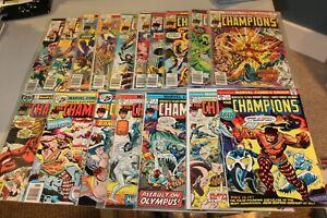 COMPLETE SET Champions 1-17 1975 Hercules Ghost Rider Black Widow Iceman Angel