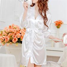 Hot Women Sexy Faux Satin Lace Silk Underwear Lingerie Nightdress SleepwearB1IS