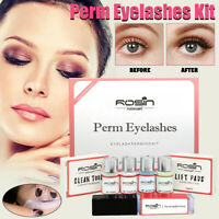 18Pcs/ Kit De Levage De Cils Teinture Rehaussement Permanent Fixation Nutrition