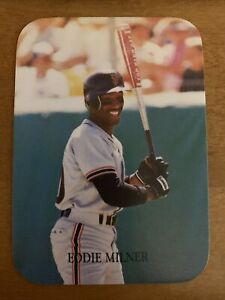 1987 Indiana Blue Sox #47 Eddie Milner San Francisco Giants Baseball Caes
