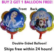 BIG 2-Sided Frozen Elsa Anna Mylar Jumbo Balloon Birthday Party Supplies