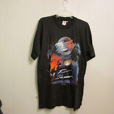 Vtg Concert Zz Top T Shirt Recycler World Tour 91 Sz L Active Orange Lone Wolf