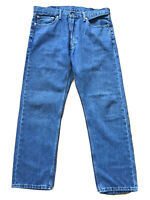 Levis 505 Blue Straight Denim Regular Jeans Size W38 L32 Tag ( W37 L30 Measured)