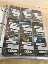 Lot of 126+ Star Wars X-Wing Minatures Game Cards - Cards Only!