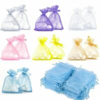Lots 100Pcs Organza Jewelry Packing Pouch Wedding Favor Gift Bags 9x7cm/12x9cm