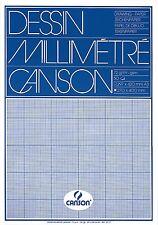 50 feuilles CANSON papier millimétré a3 - 72g/m² blanche technique caractères papier