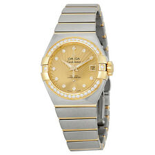 Omega Constellation Champagne Diamond Dial Steel and 18kt Yellow Gold Ladies