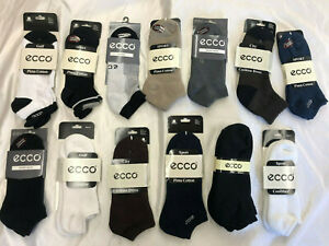 Men's ECCO Low Cut & No Show Cushioned Sport Socks ASSORTED Packs Sock Sz: 10-13