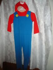 SUPER MARIO BROTHERS HALLOWEEN COSTUME WITH MATCHING HAT-SIZE MEDIUM