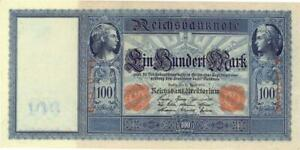 Germany 100 Mark Currency Banknote 1910 CU