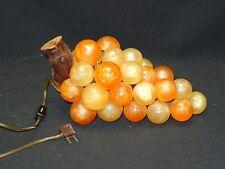 "VINTAGE 60's VINTAGE LUCITE GRAPE CLUSTER SWAG TABLE LAMP ~ 12"""