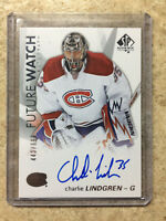 16-17 UD SPA SP Authentic Future Watch FW Auto RC #117 CHARLIE LINDGREN /999