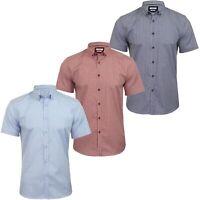 Xact Mens Short Sleeved Gingham Check Shirt - Slim Fit