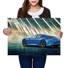 A2 | Blue Concept Sports Car Racer - Size A2 Poster Print Photo Art Gift #14465