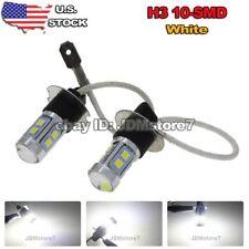 2x Xenon White H3 3030 10-SMD For Vehicle Car Fog LED Light Bulb