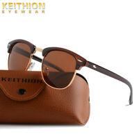 KEITHION Vintage Retro Unisex Polarized Sunglasses Fashion Round UV400 Eyewear
