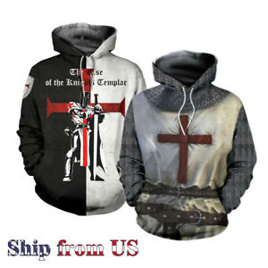 Crusader Cross Knights Templar Middle Age Sweater Sweatshirt Pullover Hoodie