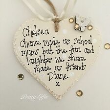 Personalised Chance Made Us School Mums But Fun & Laughter Friends Heart Gift