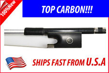 Top Graphite Carbon Fiber Violin Bow 4/4  Parisian Eyes