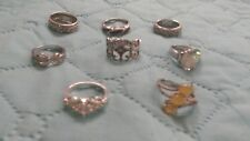 925 Sterling Silver Rings LOT - 8 Total! LOOK!  SETA+