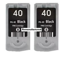 2x PG-40 PG40 PG37XL black ink cartridges for Canon MX310 MP220 MP450 MP460