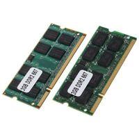 2x 2GB DDR2 PC2-5300 SODIMM RAM Memoria 667MHz 200-pines ordenador portatil M5I9