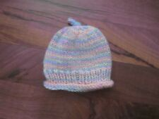 """Pastel Variegated Hand Knit Hat Accessories made for 18"""" American Girl Doll New"""