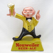 "NEUWEILER BEER - ALE VINTAGE EARLY 1960's CELLULOID 12"" 3D FIGURE - BAR SIGN"