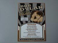 Bob Dylan Concert Gig Flyer Nottingham Manchester Glasgow Birmingham