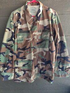 US Army military Hot Weather Jacket BDU Woodland Camo size Medium/Short