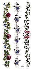 US SELLER, best wrist tattoo bracelet armband butterfly flower temporary tattoo