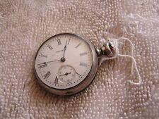 Antique Waltham Pocket Watch Sterling Case