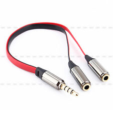 Headphone Splitter Jack Male to 2 Double Female Y Cable Cord Adapter Audio Red
