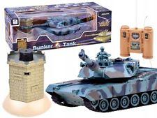 TANK Panzerkampfwagen Kampfpanzer schießt Kampf mit  Bunker fernbedienung NEU