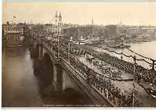 J.V. Angleterre, The Queen's Carriage, Diamond Procession  Vintage albumen