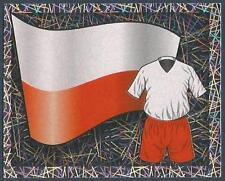 MERLIN-ENGLAND 2006 WORLD CUP- #130-POLAND TEAM FLAG & KIT-SILVER FOIL