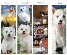 3 -WEST HIGHLAND White TERRIER BOOKMARK Westie Dog puppy Book Card Figurine ART