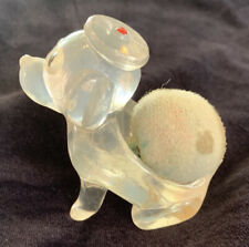 Vintage Clear Plastic Puppy Dog Sewing Pin Cushion