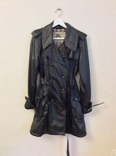 Burberry Women's Silver Trench Coat/Parka Hybrid Size 10