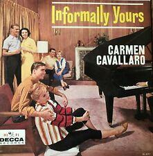 "Carmen Cavallaro Informally Yours DECCA DL 4017 Record 12"" Album 33 rpm vinyl LP"