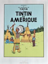 """HERGÉ .TINTIN . SERIGRAPHIE - """" TINTIN EN AMERIQUE """""""
