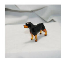 Art Blown Glass Murano Figurine Glass Dog Rottweiler