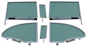 Side Glass Assembly 1955 1956 1957 Chevy Pontiac Hardtop Vent Door Quarter Green