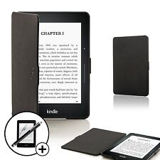 Forefront Cases Black Smart Shell Case Amazon Kindle Voyage Stylus Screen Prot