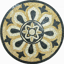 Modern Chic Decor Round Medallion Floor Tile Marble Mosaic MD1004