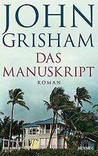 Das Manuskript: Roman von Grisham, John   Buch   Zustand sehr gut