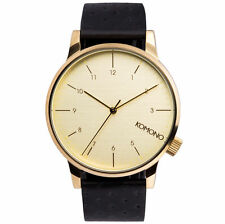 Komono Winston Black Quartz Analog Men's Watch KOM-W2002